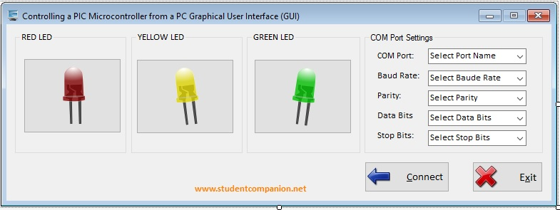 PC GUI Software Interface